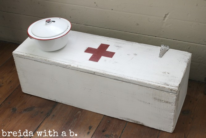 vintage red cross inspired box