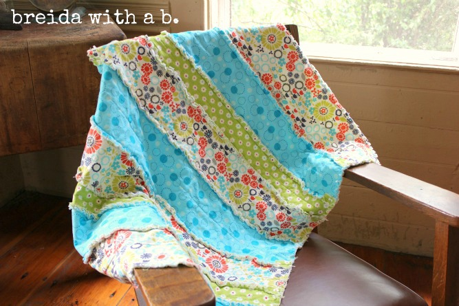 Pinspired and Produced #14 {making a baby rag quilt} - breida with ... : rag quilt how to - Adamdwight.com