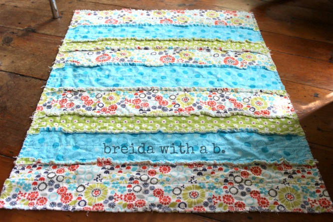Pinspired And Produced 14 Making A Baby Rag Quilt Breida With A B