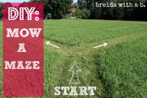 make your own yard maze