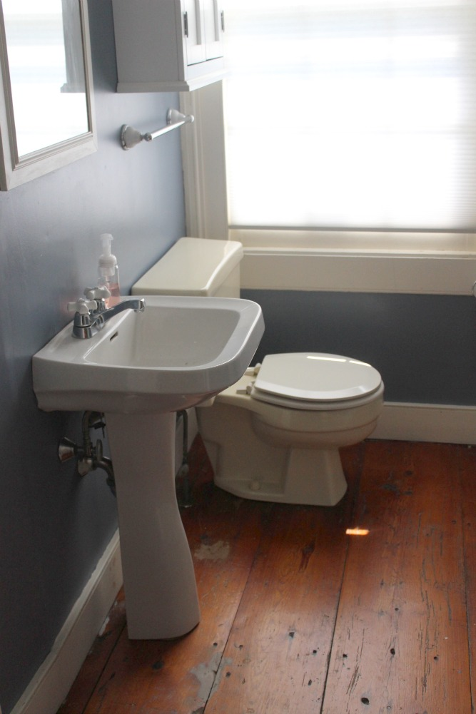 Once More To The Studs Farmhouse Bathroom Renovation BEFORE - Old bathroom renovation