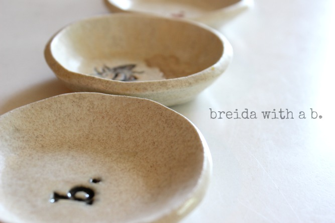 small pottery dishes