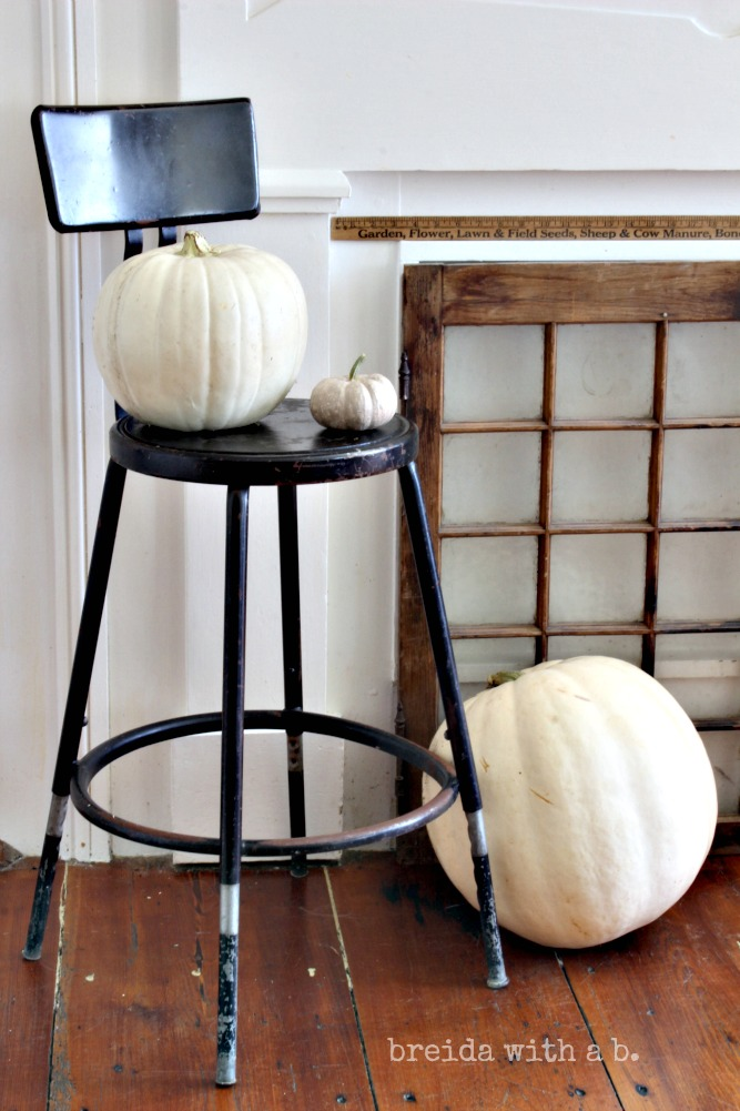 VIntage Farmhouse Industrial Fall Mantel