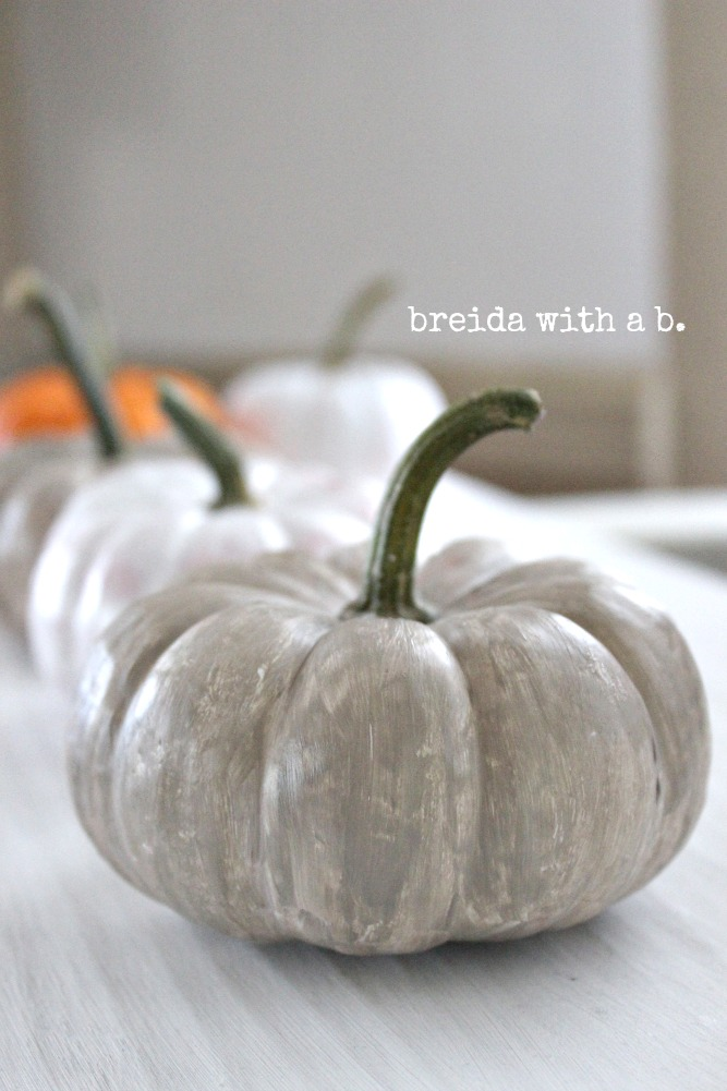 Paint your pumpkin and wax it too.