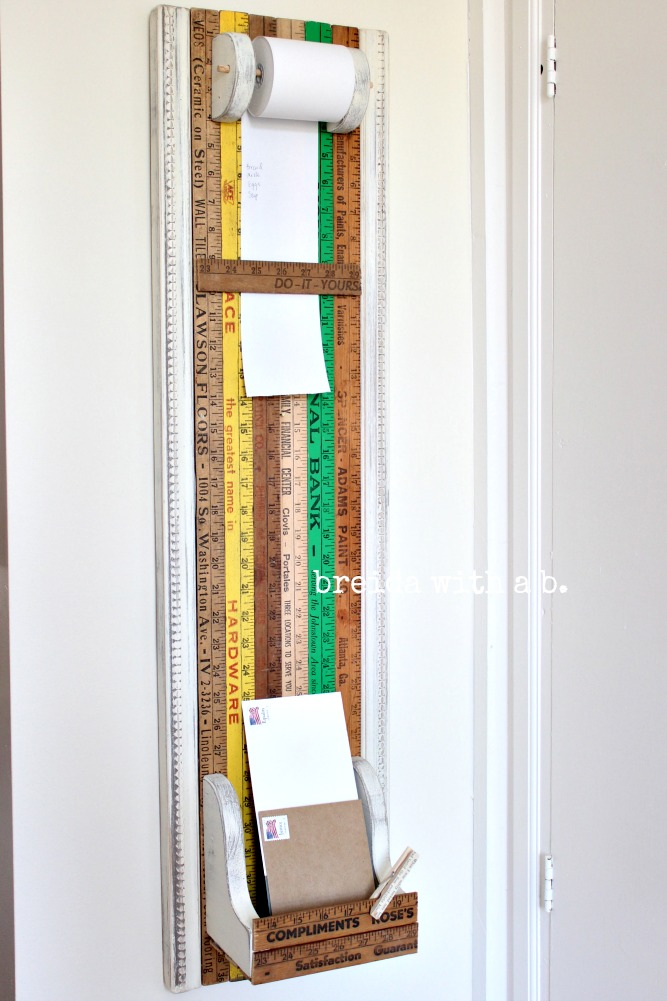How to vintage yardstick kitchen organizer