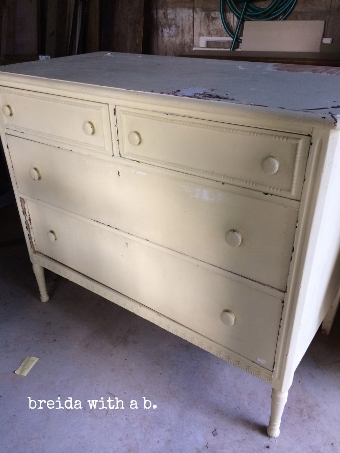 HEAVILY painted dresser