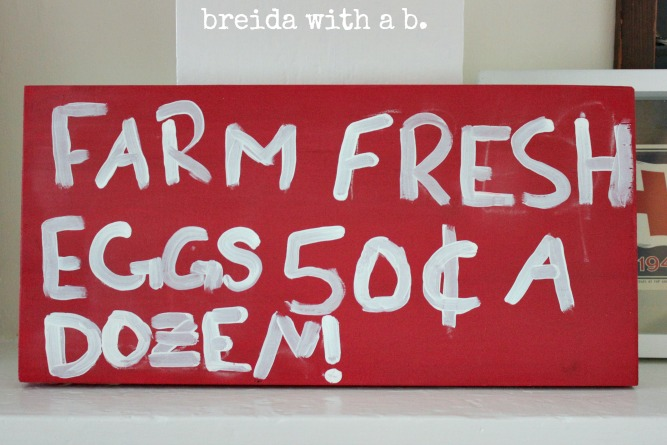 tricycle eggs sign finished